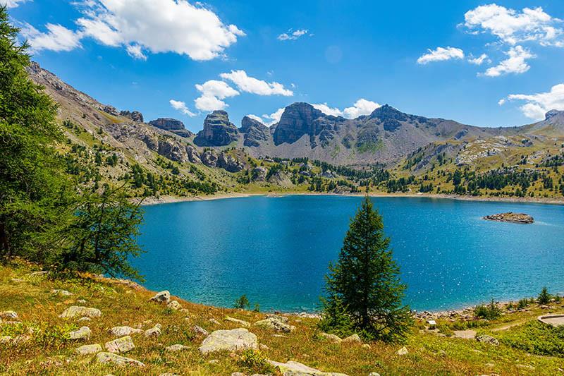 Le lac d'ALLOS.